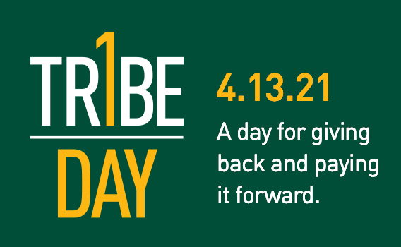 One Tribe One Day - A day for giving back and paying it forward. Tuesday, April 13, 2021