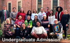 Smiling faces with Undergraduate Admission text overlaid on the image.