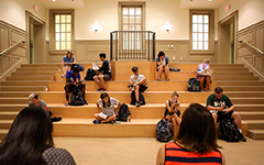 Students study and relax in Tucker Hall