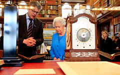 Queen Elizabeth peruses the Royal Papers