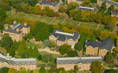 Aerial photo of old campus