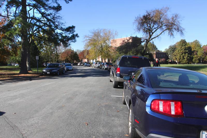 Phi Beta Kappa (PBK) Circle Parking Lot