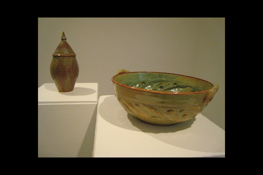 Beth Turbeville: Bowl and Lidded Form; stoneware, 2011