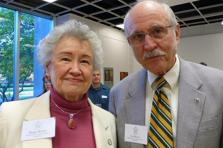 Marge Brown '54 and husband Jay Brown