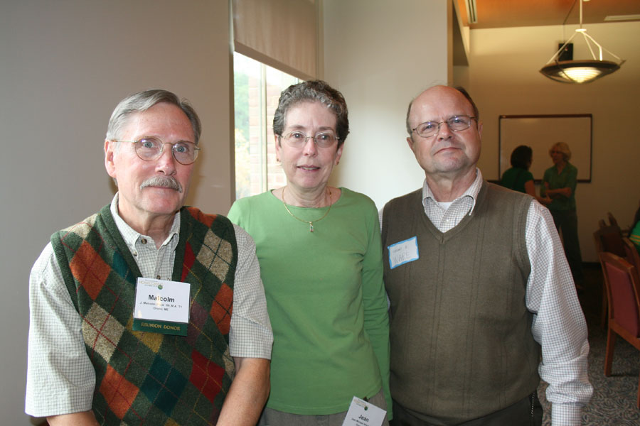 Malcolm Shick'69 (M.S. '71) and Jean Michel Shick '68 (French) with Professor Emeritus Stewart Ware
