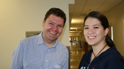 Biology Assistant Professor MattWawersik and Cecilia Esteban '10