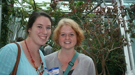Martha Fisher '12 and Stephanie Wilson '12