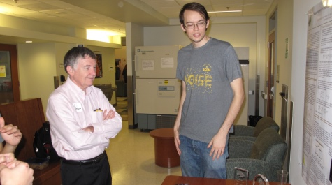 Professor Paul Heideman and student Andy Halleran