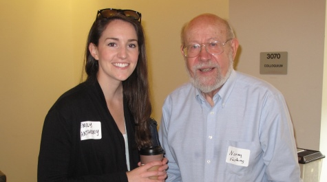 Emily Anthony '13 and Emeritus Professor Norm Fashing