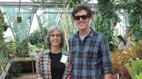 Greenhouse Manager Patty Jackson and Joey Thompson '14