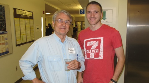 Professor (and Chair) Eric Bradley and Marc Presler '10