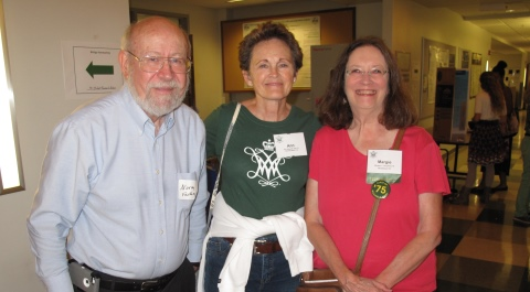 Emeritus Professor Norm Fashing, Ann Tate '75 and Margery Daughtery '75