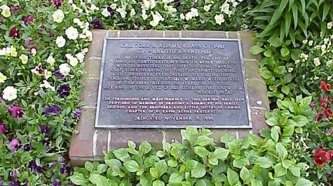 Adams Plaque