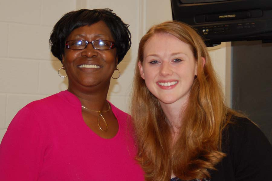 Joyce Holmes with alumna Maggie Richards