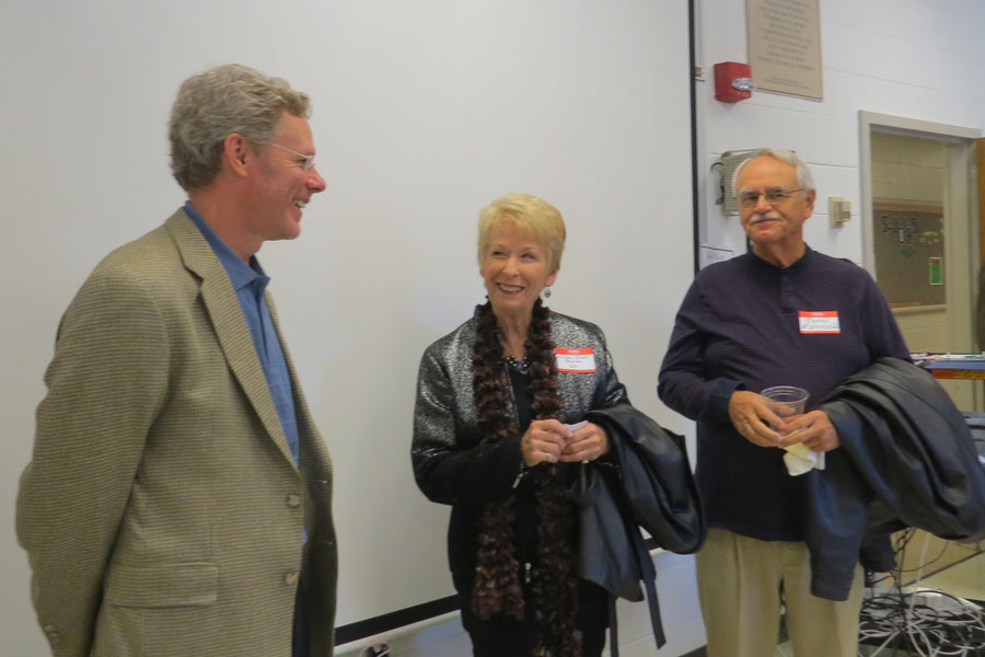 Professor Donahue with Linda Cock Renick '65 and her husband