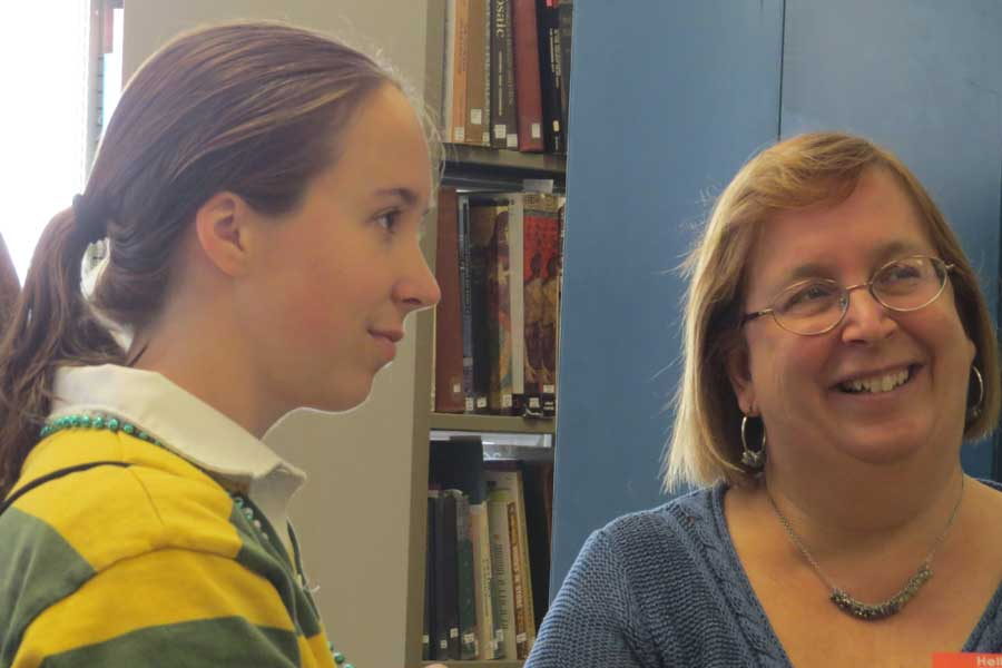Carrie Sheeler '14 and Professor Spaeth