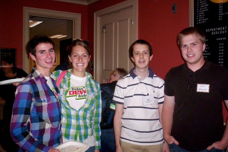 Danny Gordon ('09), Alison Smith ('09), Will Angley ('08), and Seth Utecht ('10)