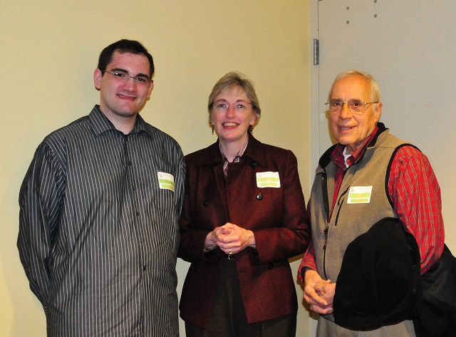Michael Liarakos (B.S., '09), Virginia Torczon (Professor and Chair), and Dick Prosl (Professor Emeritus)