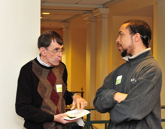 Bob Noonan and Carl Scott (B.S., '07)