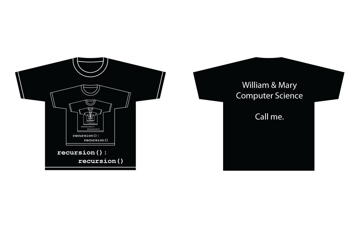 Winner Of The First Ever W M Computer Science T Shirt Design Contest