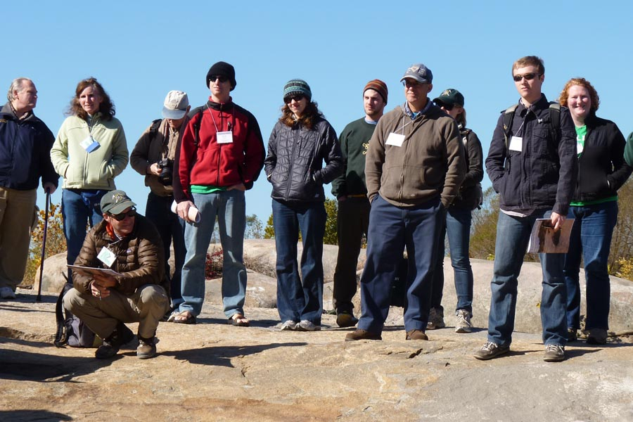 A fine looking group of geology people at Belle Island
