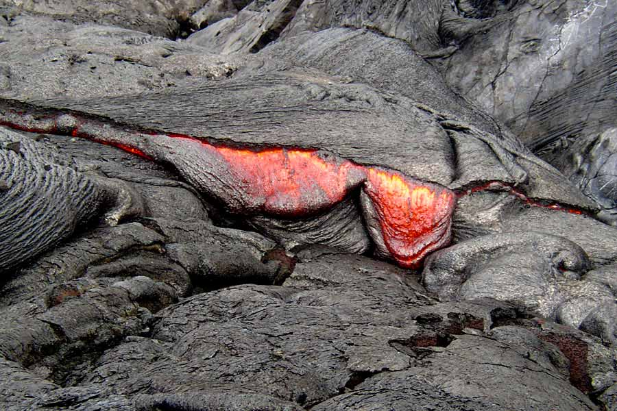 Basaltic Lava Basaltic Lava Drips From a
