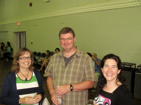 Drs. Janice Zeman, Robert Barnet, & Catherine Forestell enjoy the reception