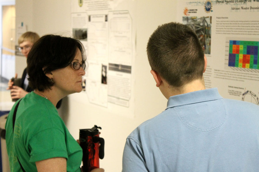 Undergraduate research poster session.  Photo credit J. Hill