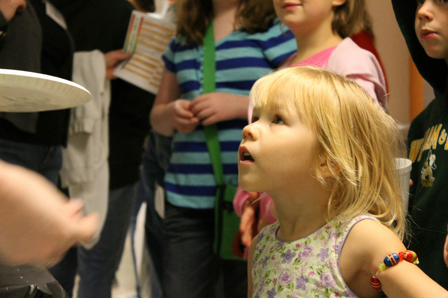A young guest learns about the electromagnetic spectrum.  Photo credit J. Hill