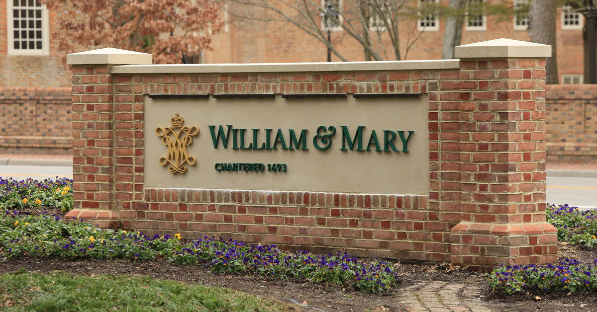 William & Mary sign