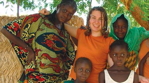 Katie Leach-Lemon as a Peace Corps Volunteer