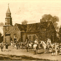 Bruton Church in early Colonial times