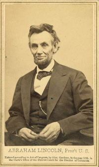 Gardner's last official photo of Lincoln