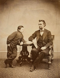 Lincoln with his son, Tad