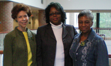 Left to right: Janet Brown Strafer, Karen Ely, Lynn Briley in 2011