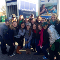The women's gymnastics team took part in the Mayflower Marathon.