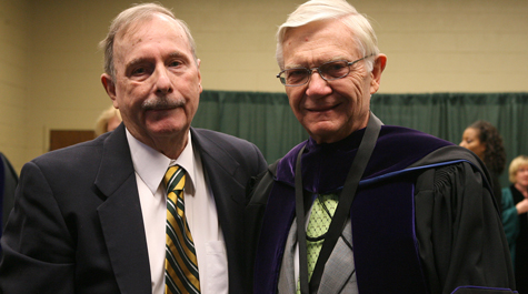 Professor Jim Bill with President Taylor Reveley