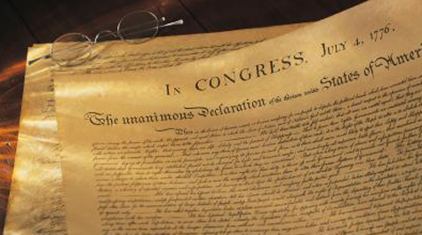 The reading of the Declaration was a staple of W&M Commencements celebrated on July 4.