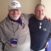 Former JMU broadcaster Mike Schikman with Colley