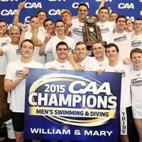 Men's swimming wins first CAA championship