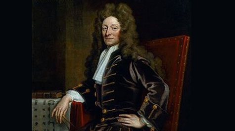Godfrey Kneller painting of Sir Christopher Wren (1711)