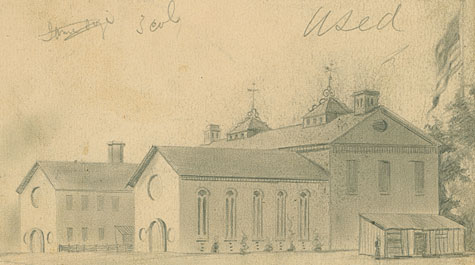 This Civil War Era sketch, known as the Taylor Drawing, was aquired by the university in 2011. Courtesy Swem Special Collections Research Center.