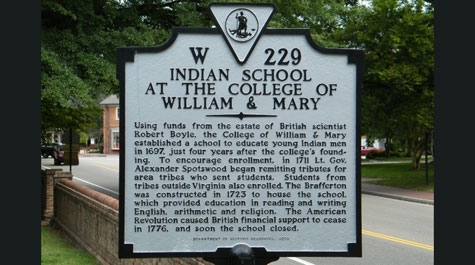 Indain School historic marker