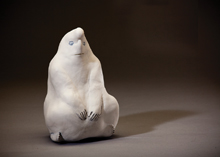 One of the sculptures that will be included in Melange á Clay, created by Heidi Preuss Grew