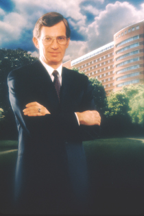 DeVita stands for his official portrait after being appointed director of the National Cancer Institute by President Jimmy Carter 1980. (Photo courtesy of Farrar, Straus and Giroux)