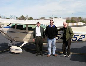 The eagle census team in 2008: From left, Capt. Fuzzzo, Bryan Watts, Mitchell Byrd (Courtesy photo)
