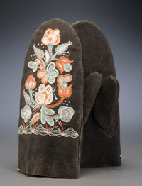 Huron mittens, artist unknown