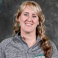 Women's volleyball coach Melissa Ferris