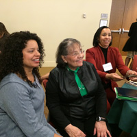 Shana Haines, Diane Nash and Leah Glenn, Lemon Project co-chair