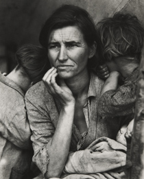 Migrant Mother, Nipomo, California, 1936, gelatin silver print by Dorothea Lange (Collection of the Kalamazoo Institute of Arts)